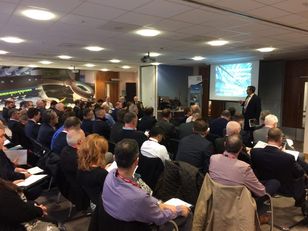 Attendees at the ADS Aerospace Interiors Group Meeting in Belfast