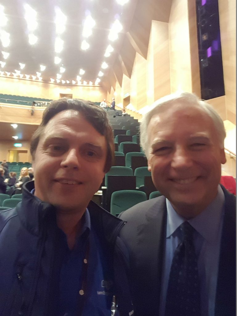 Managing Director Rolf Fuhrmann & Jack Canfield at the Pendulum Summit 2017 Dublin