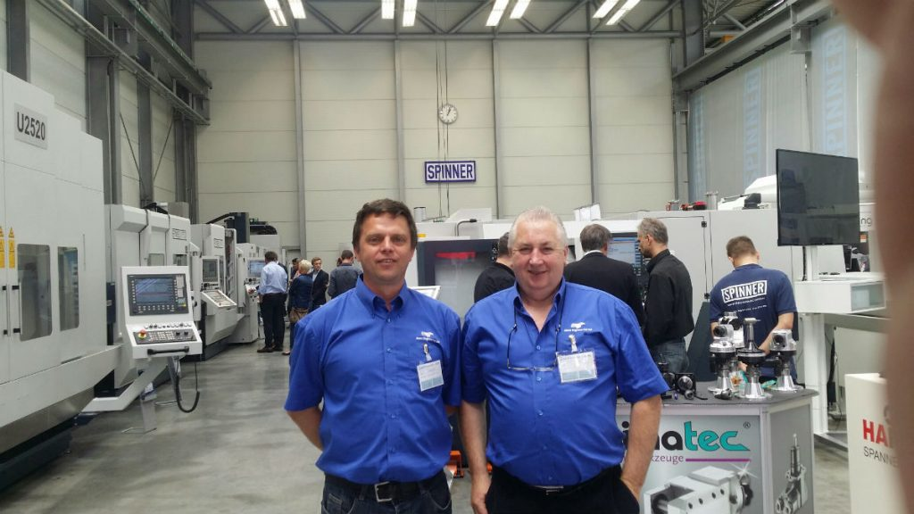 Mann Engineering Managing Director, Rolf Fuhrmann and Technical Manager Gerry Neads visiting the Spinner Lathe Manufacturing Plant in Sauerlach Munich