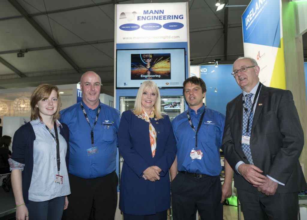 From left Emma Tobin Aerospace Engineering Student UL, Pat Coldrick, Minister Mary Mitchell-O'Connor, Rolf Fuhrmann, Tom Kelly